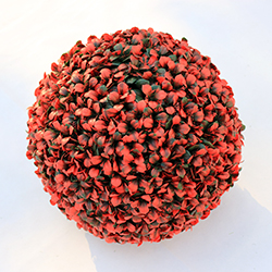 Artificial Topiary Ball C021 Red